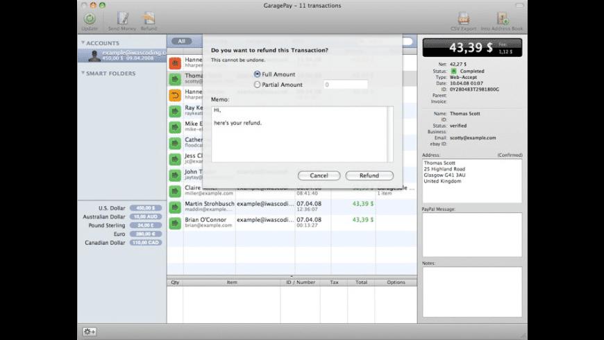 GaragePay for Mac - review, screenshots