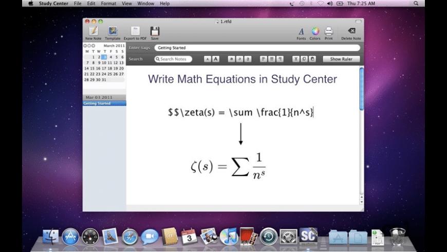 Study Center for Mac - review, screenshots