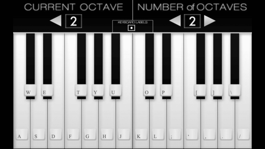 Virtual Piano for Mac - review, screenshots