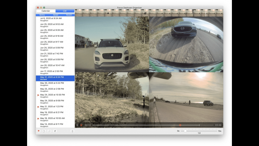 Focus Dashcam Organizer for Mac - review, screenshots