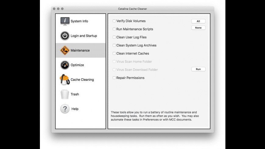Catalina Cache Cleaner for Mac - review, screenshots
