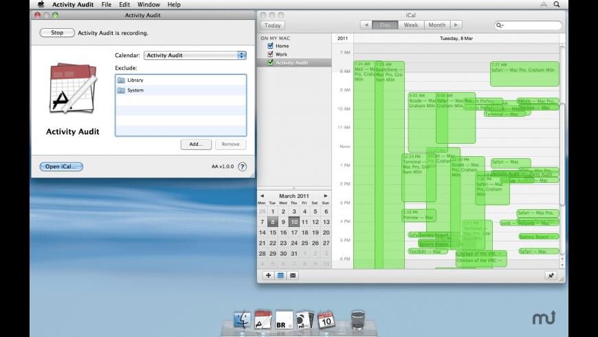 Activity Audit for Mac - review, screenshots