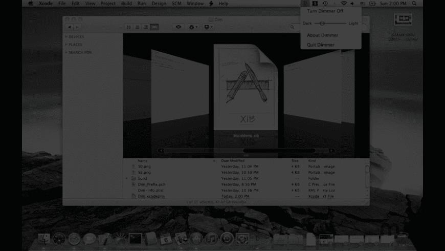Dimmer Than Dim for Mac - review, screenshots