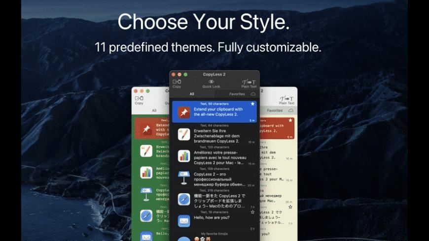 CopyLess for Mac - review, screenshots