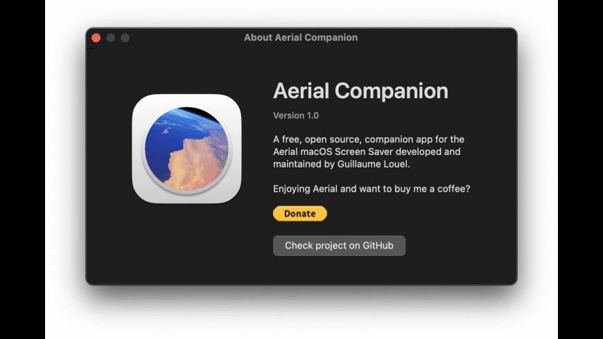 Aerial Companion App for Mac - review, screenshots
