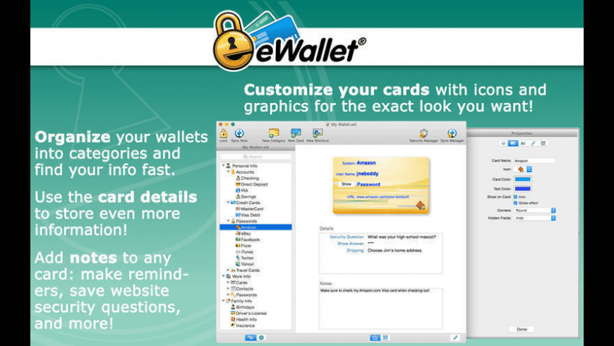 eWallet for Mac - review, screenshots