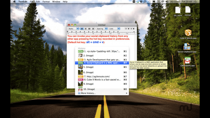 Social Clipboard for Mac - review, screenshots
