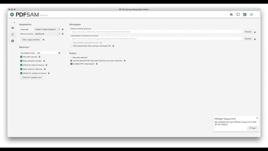 PDFsam for Mac - review, screenshots