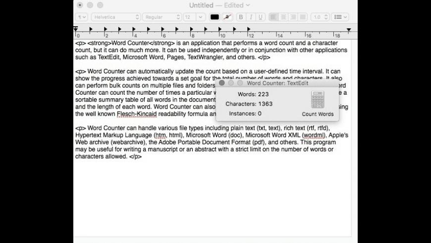 Word Counter for Mac - review, screenshots