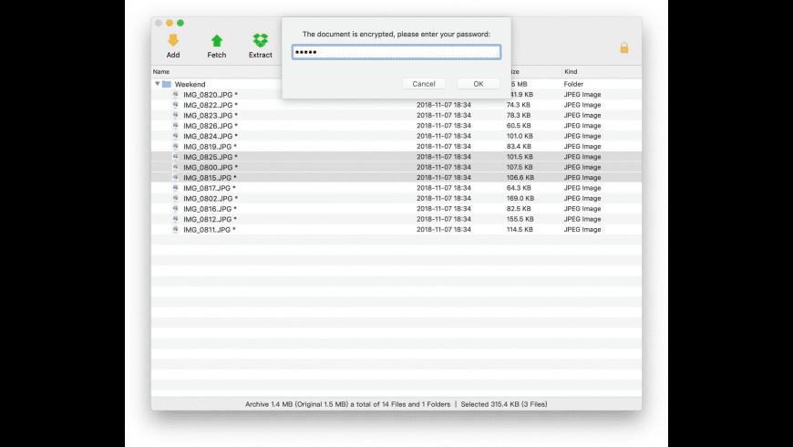 eZip for Mac - review, screenshots