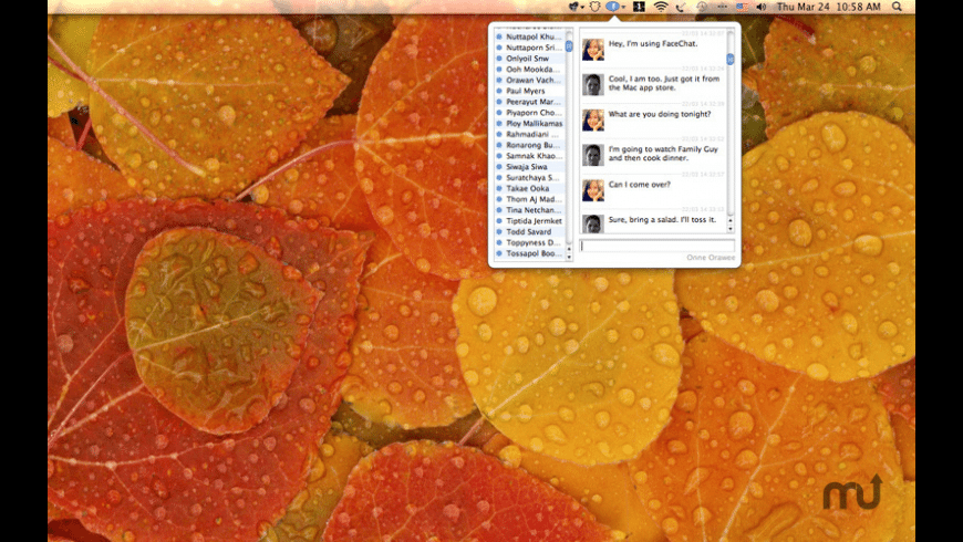 FaceChat for Mac - review, screenshots