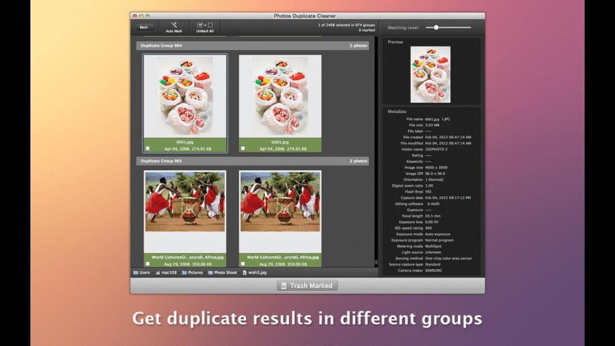Photos Duplicate Cleaner for Mac - review, screenshots