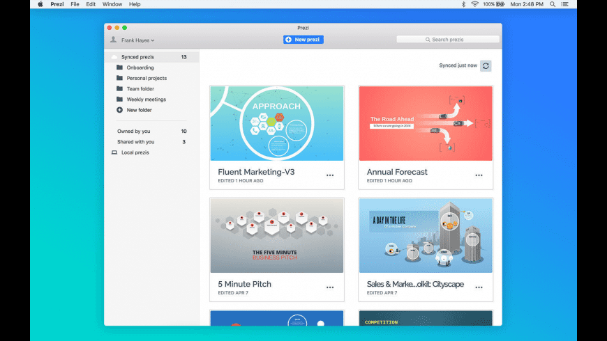 Prezi Classic for Mac - review, screenshots