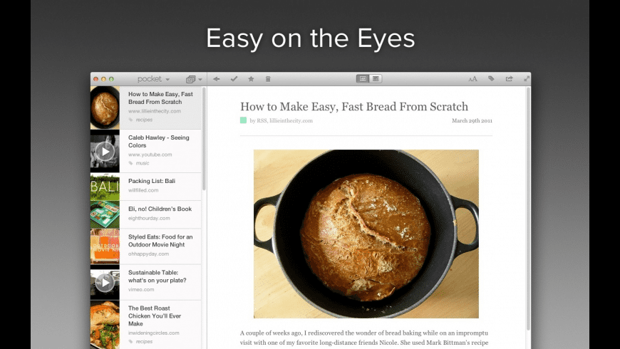 Pocket for Mac - review, screenshots