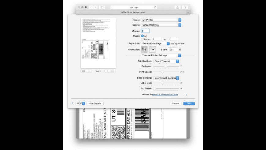 Mac Thermal Printer Driver for Mac - review, screenshots