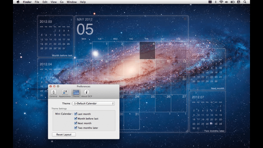 Desktop Calendar Plus for Mac - review, screenshots