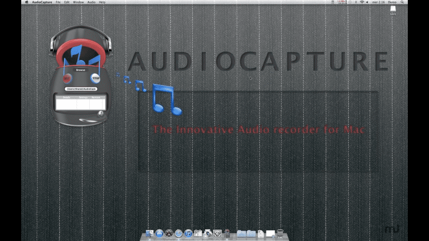 AudioCapture for Mac - review, screenshots