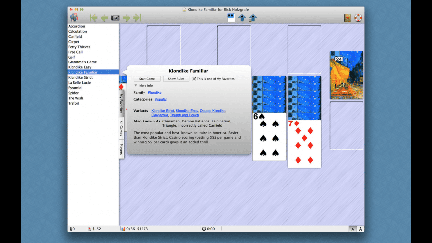 Solitaire Till Dawn for Mac - review, screenshots