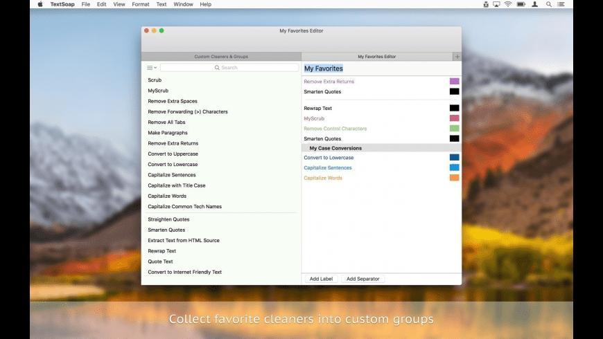 TextSoap for Mac - review, screenshots
