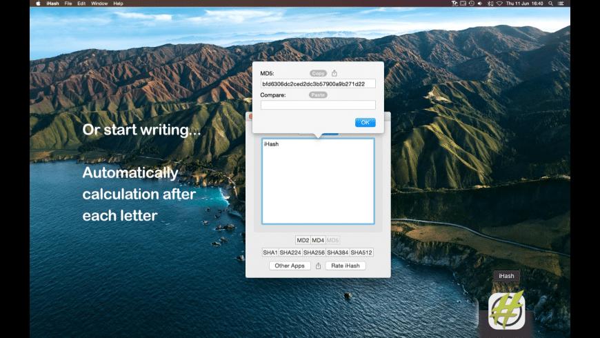iHash for Mac - review, screenshots