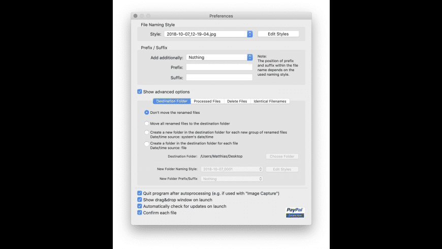 ExifRenamer for Mac - review, screenshots