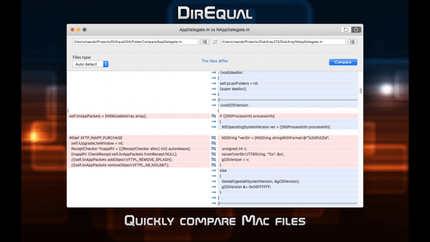 DirEqual for Mac - review, screenshots