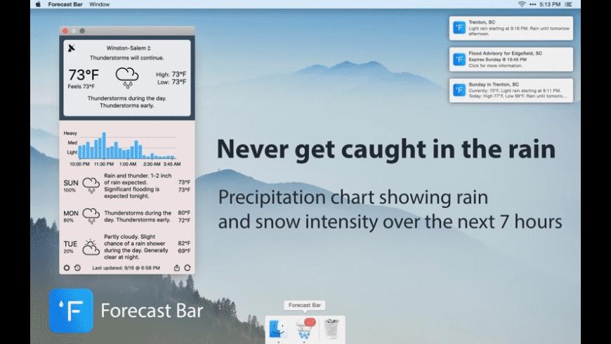 Forecast Bar for Mac - review, screenshots