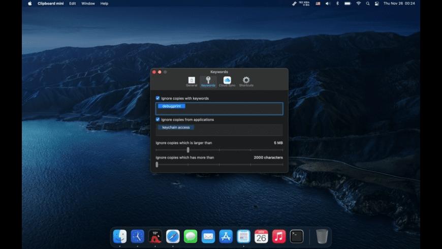 Clipboard mini for Mac - review, screenshots