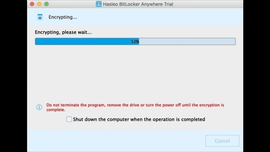 Hasleo BitLocker Anywhere for Mac - review, screenshots