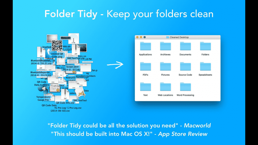 Folder Tidy for Mac - review, screenshots