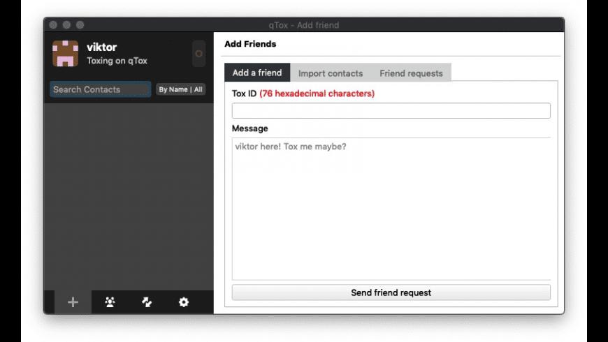 qTox for Mac - review, screenshots