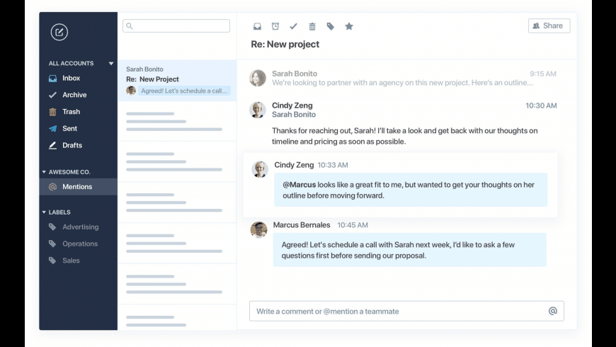 Polymail for Mac - review, screenshots