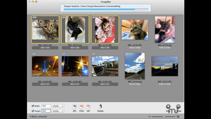 imageBot for Mac - review, screenshots