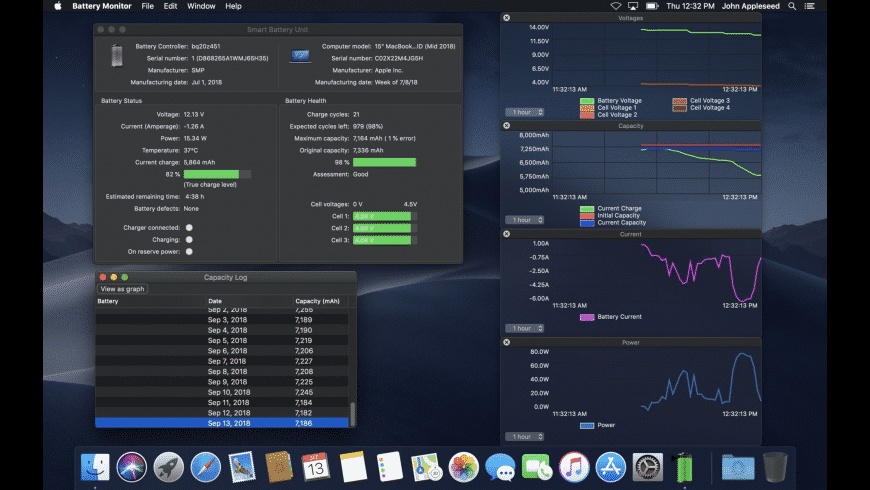Battery Monitor for Mac - review, screenshots