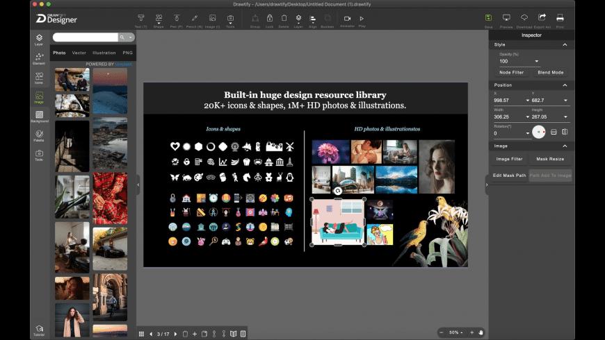 Drawtify Designer for Mac - review, screenshots