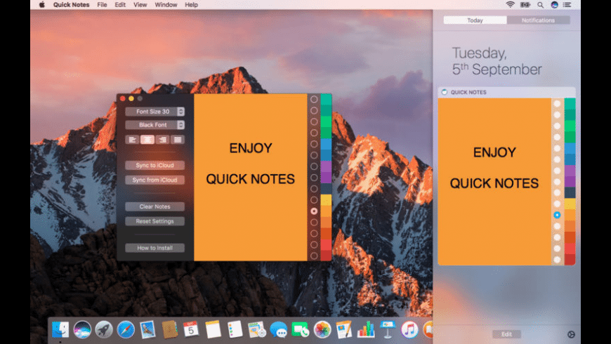 Quick Notes for Mac - review, screenshots