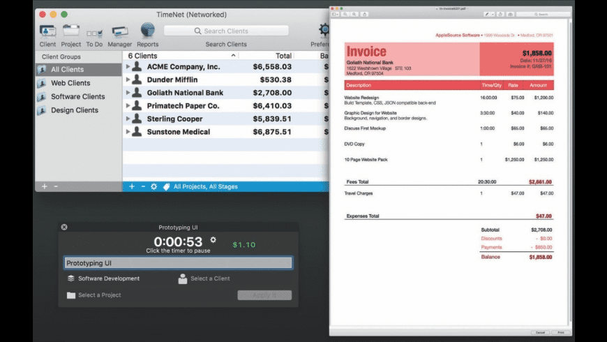TimeNet for Mac - review, screenshots