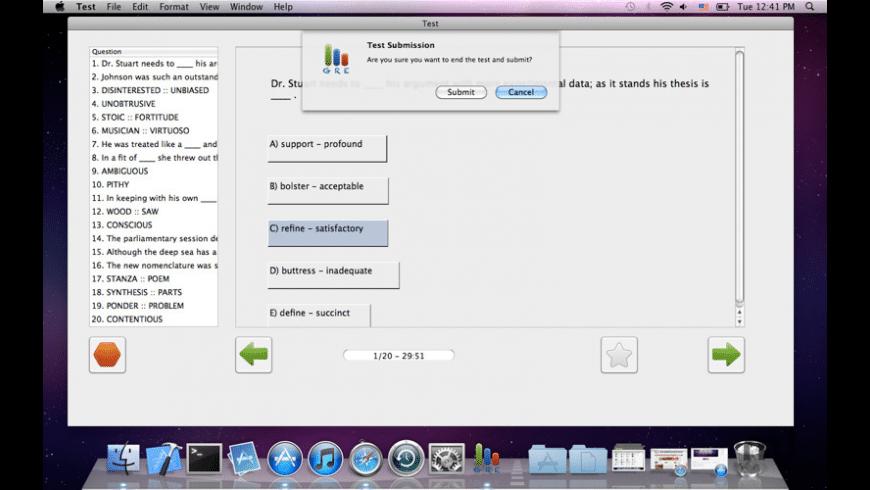 GRE Verbal Exam Prep for Mac - review, screenshots