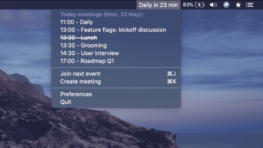 MeetingBar for Mac - review, screenshots