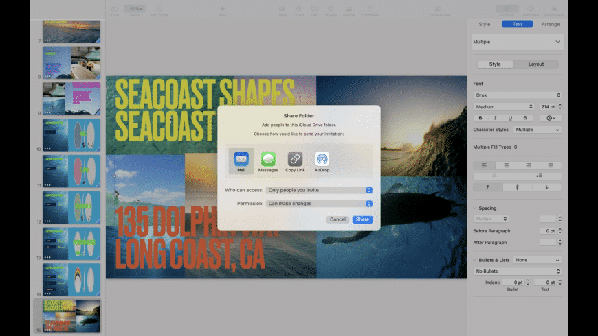 Keynote for Mac - review, screenshots