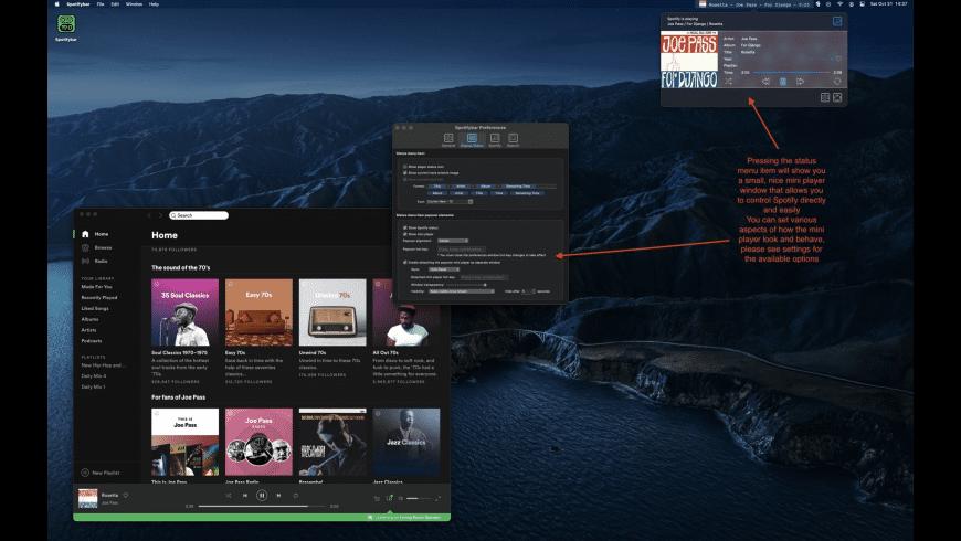 SpotifyBar for Mac - review, screenshots