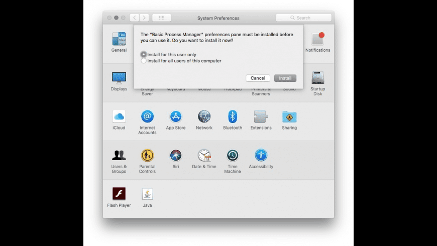 Basic Process Manager for Mac - review, screenshots