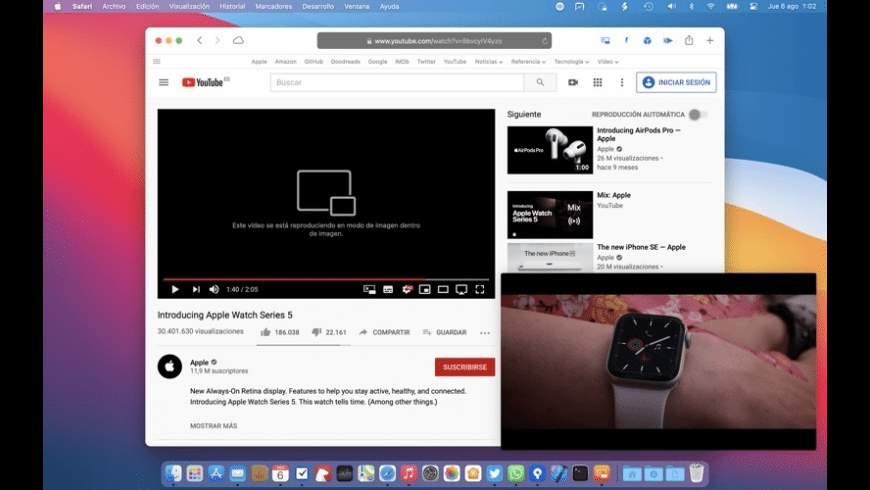 OverPicture for Safari for Mac - review, screenshots