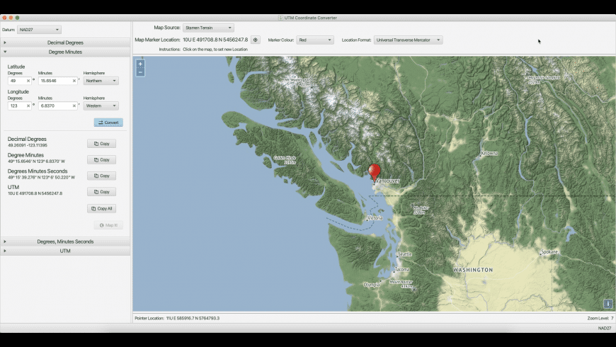 UTM Coordinate Converter for Mac - review, screenshots