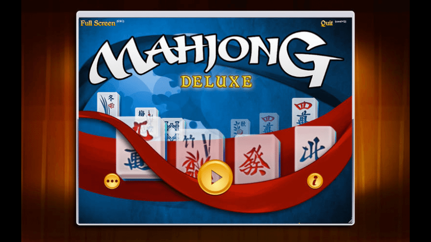 Mahjong Deluxe for Mac - review, screenshots