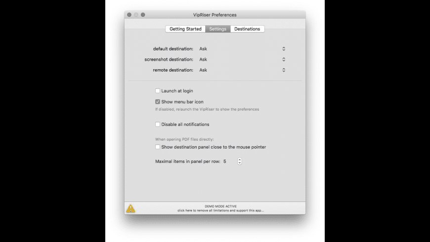 VipRiser for Mac - review, screenshots