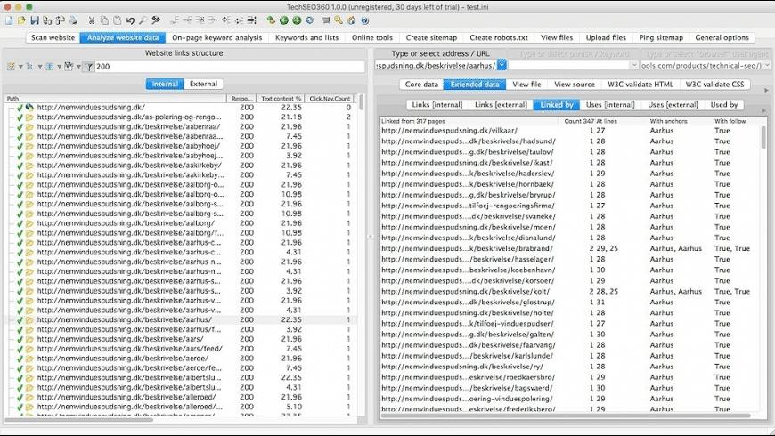 TechSEO360 for Mac - review, screenshots