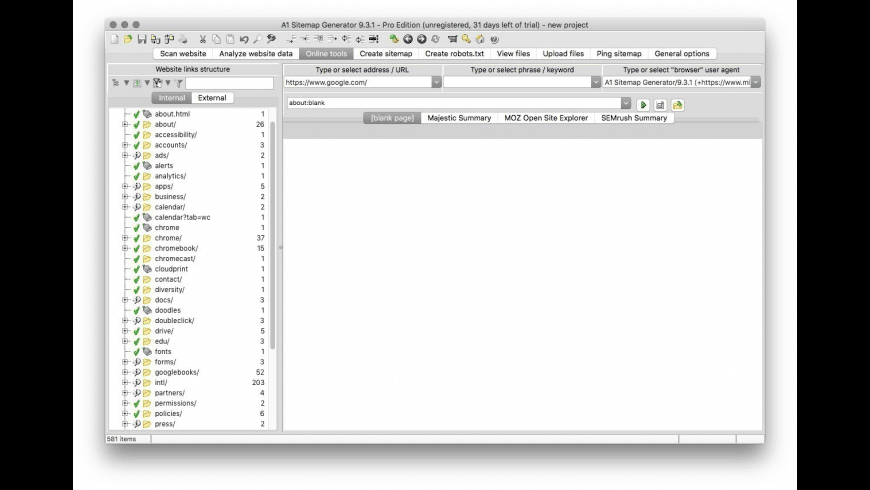 A1 Sitemap Generator for Mac - review, screenshots