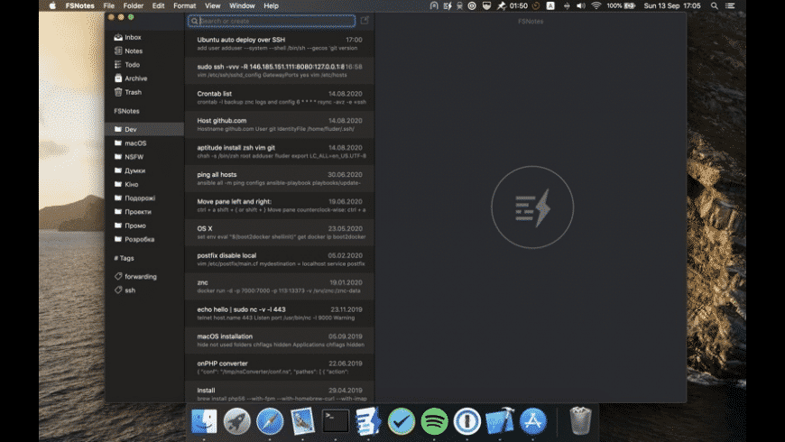 FSNotes for Mac - review, screenshots