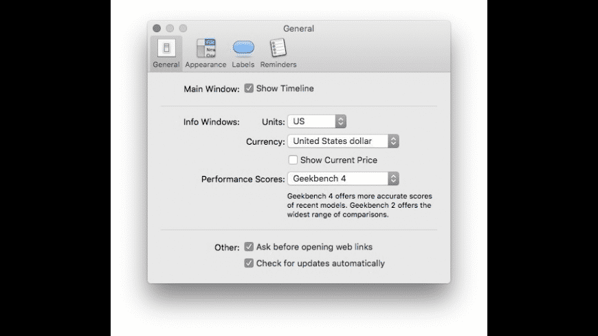 Mactracker for Mac - review, screenshots